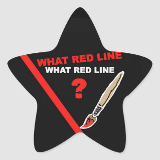 What red line? ... What red line ? Star Sticker