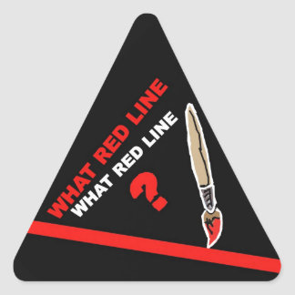 What red line? ... What red line ? Triangle Sticker
