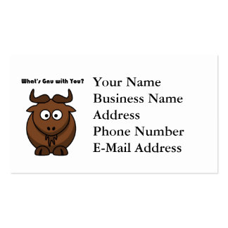 What's Gnu Buffalo Cartoon Business Card