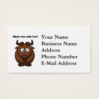What's Gnu Buffalo Cartoon Business Card