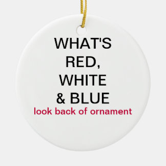 What s Red White Blue New Zealand Flag Ornament