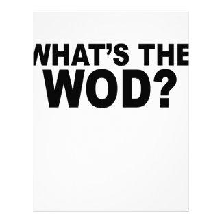 What´s The WOD Women's T-Shirts.png Custom Letterhead