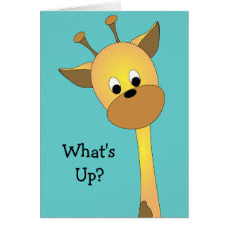 What s Up Greeting Card