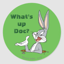 WHAT'S UP DOC?™ BUGS BUNNY™ Rabbit Hole Classic Round Sticker