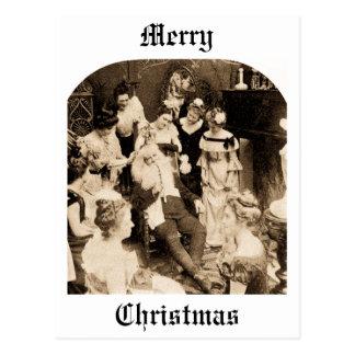 What Santa Does on December 26th - Vintage Postcard
