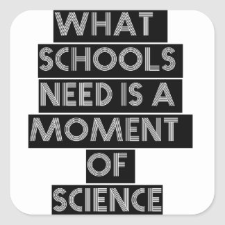 What schools need is a moment of science square sticker