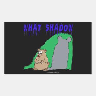 What Shadow Rectangular Sticker