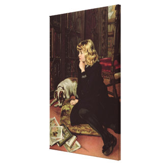 What Shall I Read? Canvas Print