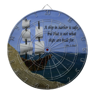 What Ships are Built For Fabric Collage Dartboards