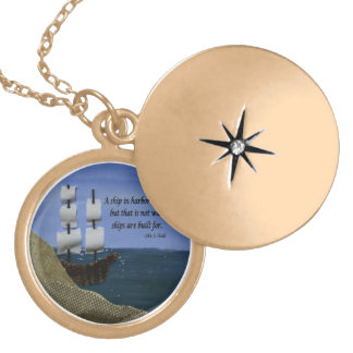 What Ships are Built For Fabric Collage Pendants