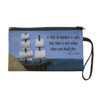 What Ships are Built For Wristlet Purse