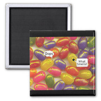 What Smell's? Jelly Beans 2 Inch Square Magnet