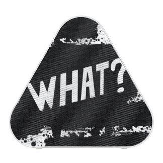 What? splattered black paint B&W Portable Speakers
