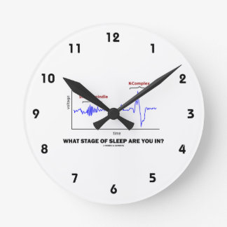 What Stage Of Sleep Are You In? Round Wall Clocks