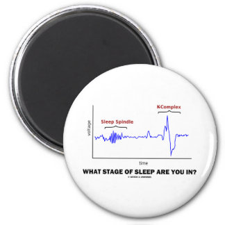 What Stage Of Sleep Are You In? 2 Inch Round Magnet