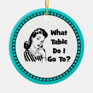 What Table Do I Go To? Christmas Tree Ornaments
