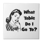 What Table Do I Go To? Small Square Tile