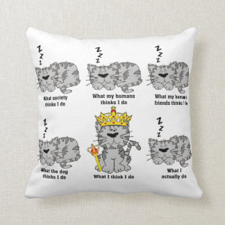 What The Cat Does Throw Pillow