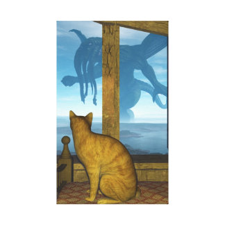 What The Cat Saw Canvas Print