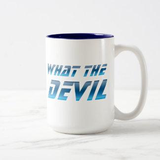 What The Devil Two-Tone Coffee Mug
