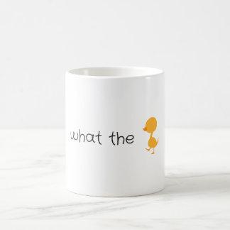 what the duck coffee mug