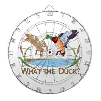What The Duck? Dartboard With Darts