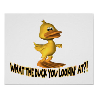 What The Duck You Lookin At Poster