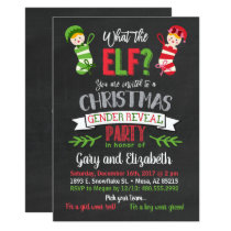What The Elf Christmas Gender Reveal Invitation
