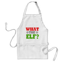 WHAT THE ELF -.png Adult Apron