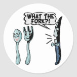 What The Fork Classic Round Sticker