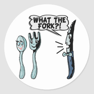 What The Fork Stickers