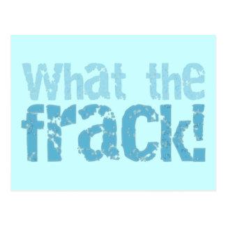 What The Frack Text Design Postcard