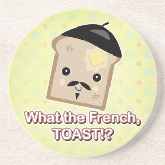 what the french toast beverage coasters
