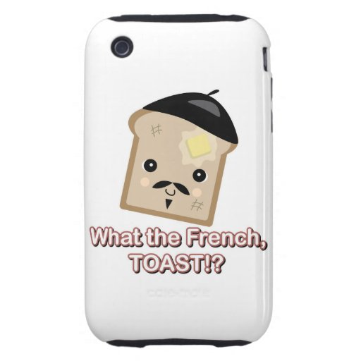 what the french toast cute kawaii toast cartoon tough iPhone 3 cases