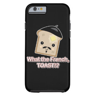 what the french toast cute kawaii toast cartoon tough iPhone 6 case