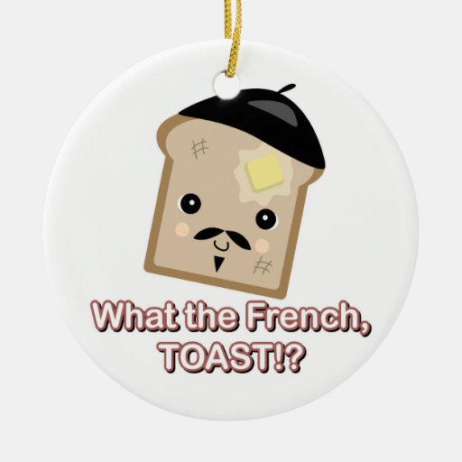 what the french toast Double-Sided ceramic round christmas ornament