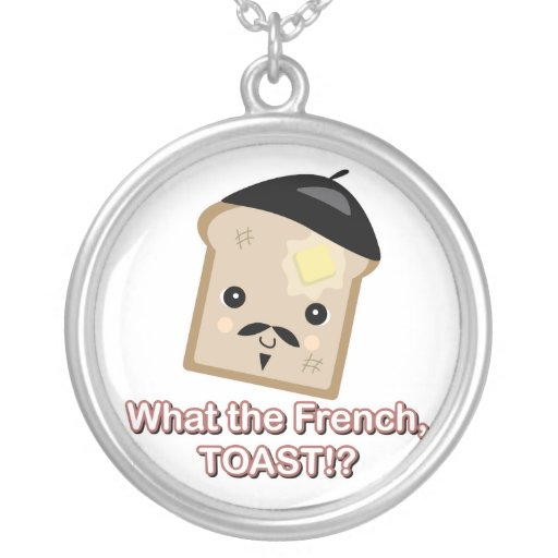 what the french toast round pendant necklace