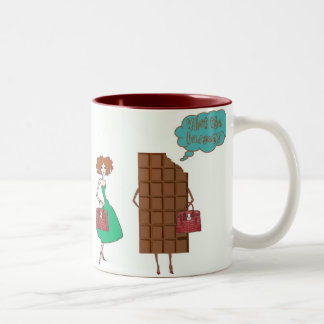 What the Fudge! Two-Tone Coffee Mug