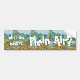 What the Heck is Plein Air? Bumper Sticker Car Bumper Sticker