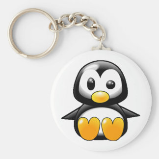 What the Heck Penguin Keychain