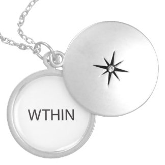 What The Hell Is Next.ai Round Locket Necklace