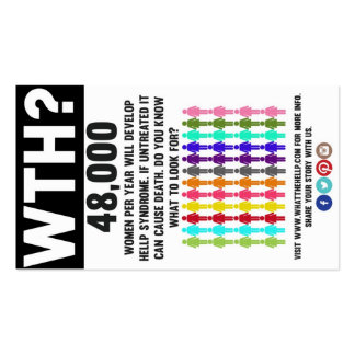 What the HELLP? Awareness Cards Double-Sided Standard Business Cards (Pack Of 100)