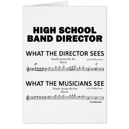 What the High School Band Sees Card