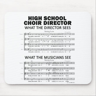 What the High School Choir Sees Mouse Pad