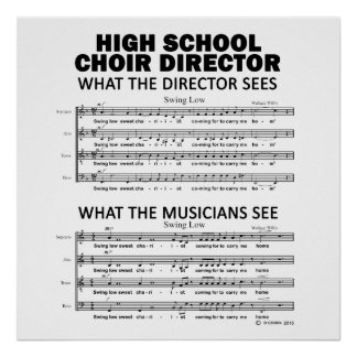 What the High School Choir Sees Poster