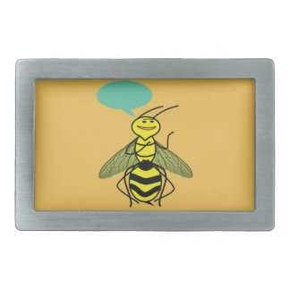 What the Honey Bee said Belt Buckle