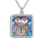What the hoot? silver plated necklace