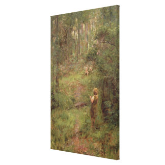 What the Little Girl Saw in the Bush, 1904 Canvas Print