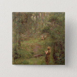 What the Little Girl Saw in the Bush, 1904 Pinback Button