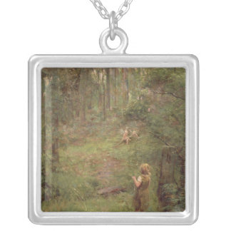 What the Little Girl Saw in the Bush, 1904 Silver Plated Necklace